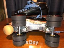 Riedell 495 Quad Skates Leather Boots PowerDyne Revenge Plates Roller Derby