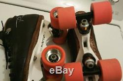 Riedell 495 Roller Skates Size 4.5 Avenger Magnesium Plates Turbo Wheels