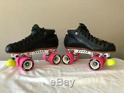 Riedell 495 Speed Roller Skates With Powerdyne Revenge Plates Mens Size 6 New