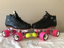 Riedell 495 Speed Roller Skates With Powerdyne Revenge Plates Mens Size 6 New