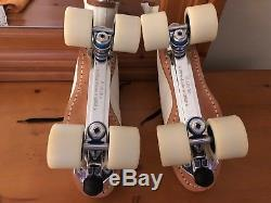 Riedell 595 Labeda Pro-line Bones Ceramics Leather Roller Skates Mens Size 11