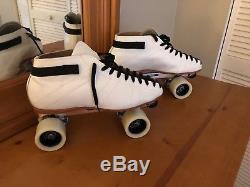 Riedell 595 Labeda Pro-line Bones Swiss Ceramics Lthr Roller Skates Mens Size 11