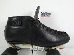 Riedell 595 Men's Black Size 10.5 Laser Plate Double Action Zombie Roller Skate