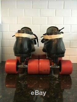 Riedell 595 Quad Boot 8.5 Roller Skates Black Diamond Shaman wheels Bones