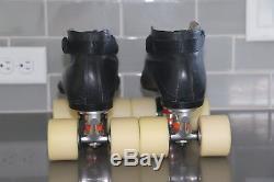 Riedell 595 Ultimate III Plates FASTER Skate Wheels / Bones REDS Bearings
