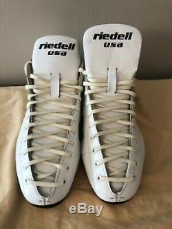 Riedell 595 White Roller Skate Boots Men's Size 8