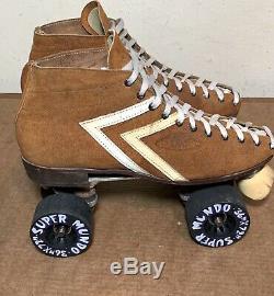 Riedell 65S IFO Size 10 Roller Skates W Mundo Super Wheels