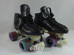 Riedell 695 Skates Men's Black Size 6.5 Laser Plate Speed Jam Roller Derby Skate