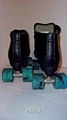Riedell 795 Quad Speed Roller skates Radar Evo Wheels Mens size 14