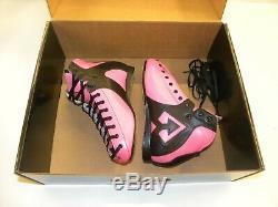 Riedell AR1 Antik Roller Skate Boots Custom Pink, Black Size 5 1/2 NEW