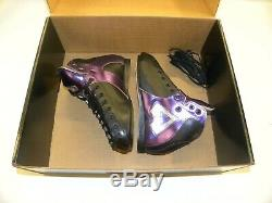 Riedell AR1 Antik Roller Skate Boots Custom Purple, Black, Silver Size 5 NEW