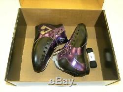 Riedell AR1 Antik Roller Skate Boots Custom Purple, Black, Silver Size 6 NEW