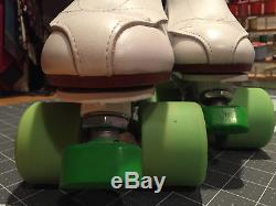 Riedell All Leather 395 Quad Roller Skates Men Size 6 (Women Size 7.5)