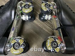Riedell Black Boot Sure Grip Competitor 6L 6R Roller Skates Size 9 READ