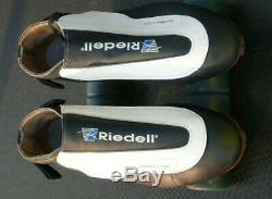 Riedell Black-White Roll-Line Sure-Grip Competitor Frames Speed Skates Size 11.5