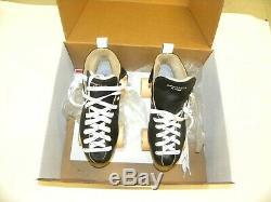 Riedell Blue Streak Nylon Fuse Derby Skates Black Size 6 w ATOM Juke 91A Wheels