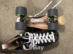 Riedell Blue Streak Platinum Roller Skates Mens Size 9