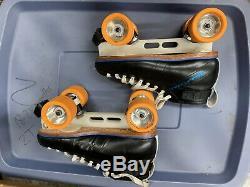 Riedell Blue Streak Quad Speed Skates Laser Plates 8