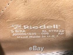 Riedell Blue Streak Sport PRO quad skates size5 B/AA w ReactorNeo Plates