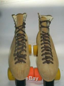 Riedell Brown Suede Roller Skates Size 11