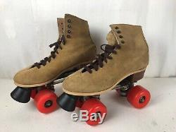 Riedell Brown Suede Roller Skates Size 6