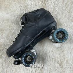 Riedell Carrera Roller Skate Speed Quads 4x4 Size 10 With Cosmic 95a Wheels GUC