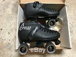 Riedell Carrera Speed SkatesWorn 3X Mens Black Leather Sz 10105BHYPER WHEELS
