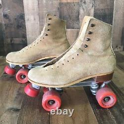 Riedell Classic Suede Roller Skates 130M Powell Bones Wheels Mens 9