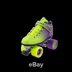 Riedell Dart Green- Purple Ombre Roller Skates complete quad skates