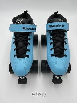 Riedell Dart Quad Speed Roller Skates 62mm Blue Black Size 8 Beautiful