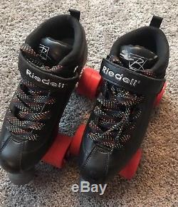 Riedell Dart Roller Derby Skates Size 7 & extra set of Sonar Zen outdoor wheels