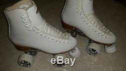 Riedell Figure 220 Artistic Womens Leather Roller Skates Size 6.5 Atlas Plates