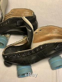 Riedell Made In USA 59885 595 CS Roller Skates Wheels Power Dyne Plates Size 6