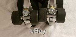 Riedell Men's roller skates Blk sz 10 Varsity 64 Wheels Excellent condition