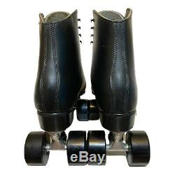 Riedell Mens Black Boot Sure Grip Competitor 8L 8R Roller Skates 117 Size 12 M