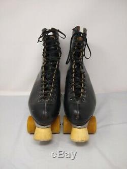 Riedell Mens Red Wing Roller Skates Sz 10 Black Super X 8L Olympian Plus Belair