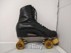 Riedell Mens Red Wing Roller Skates Sz 10 Black Super X 8L Olympian Plus Belair