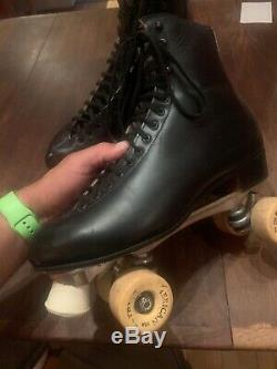 Riedell Mens Red Wing Roller Skates Sz 12 Black Super X 9R American Patriot