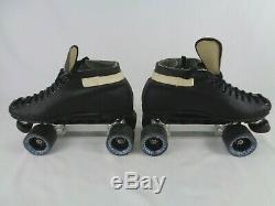 Riedell Model 122 Black Roller Skates Size 9 Sunlite II Speed S Cosmic 95a Wheel