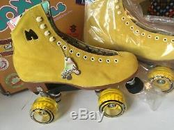 Riedell Moxi LOLLY LOLLIES Pineapple Yellow 9 Quad Roller Skates Ready2Ship NEW