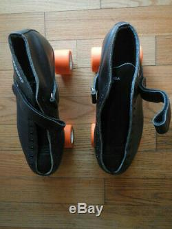 Riedell New RS1000 Mens sz 8.5/9 Handmade Black Speed Roller Skates withBag/Tools