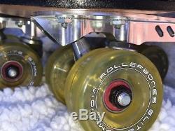 Riedell OG Custom 172 Pink & Black Size 8-Powerdyne Revenge Plate-Bones Elite