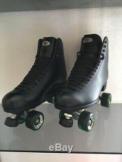 Riedell Quad Roller Skates 120 D Juice (Black) Excellent Condition (Size 12)
