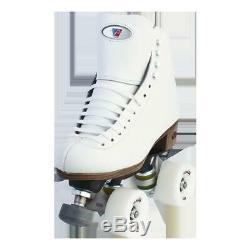 Riedell Quad Roller Skates 120 Raven (White)