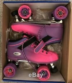 Riedell Quad Roller Skates Dart Ombre 2 Tone Purple & Pink Sz 9 FREE SHIPPING