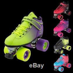 Riedell Quad Roller Skates Dart Ombre- Fade Color
