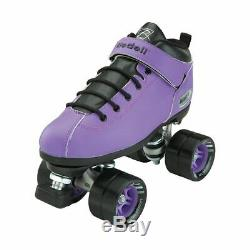 Riedell Quad Roller Skates Dart- Zebra, Solid Colors