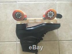 Riedell Quad Roller Skates Laser Plates Fanjets with rare 7 mm Fafnir bearings