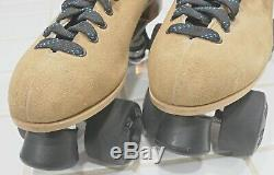 Riedell Quad Roller Skates Men's size 11 Tan (Great Condition)