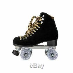 Riedell Quad Roller Skates Panther Black Suede
